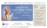 Meyer Sound SIM3 seminář a Systémový design
